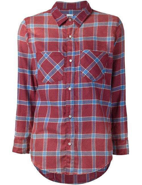 Nsf | Женская Красная Фланелевая Рубашка Kimberly
