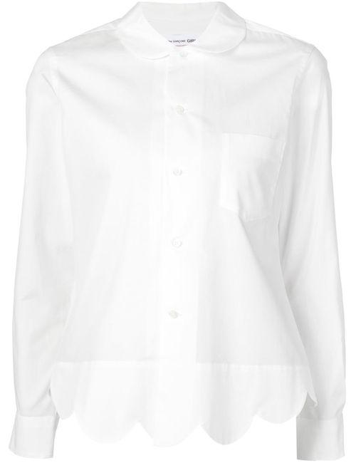 Comme Des Garcons | Женское Белый Girl Wave Trim Shirt