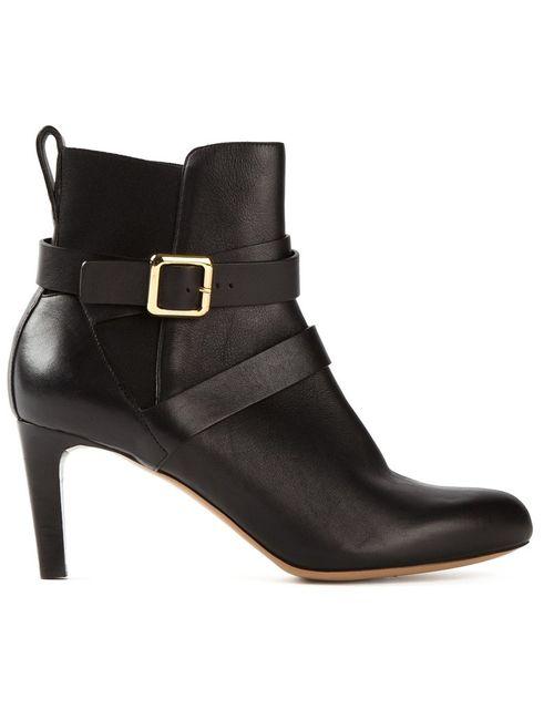 Chloe   Женское Чёрный Buckled Ankle Boots