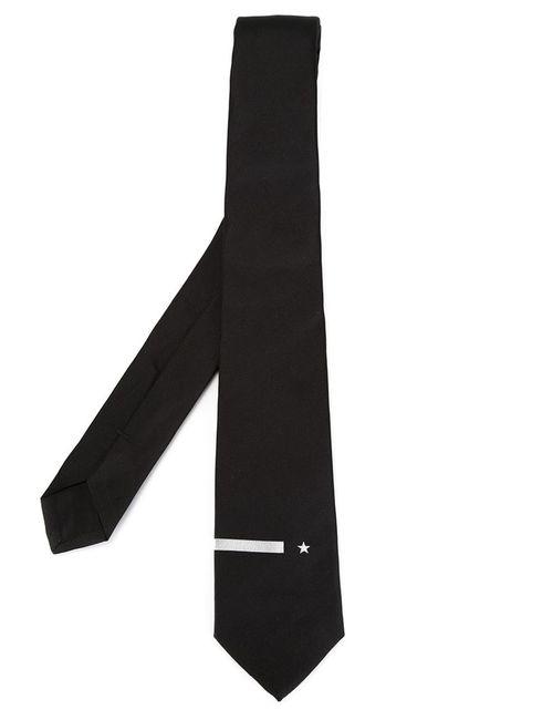 Givenchy | Мужской Чёрный Галстук С Элементом В Стиле Милитари