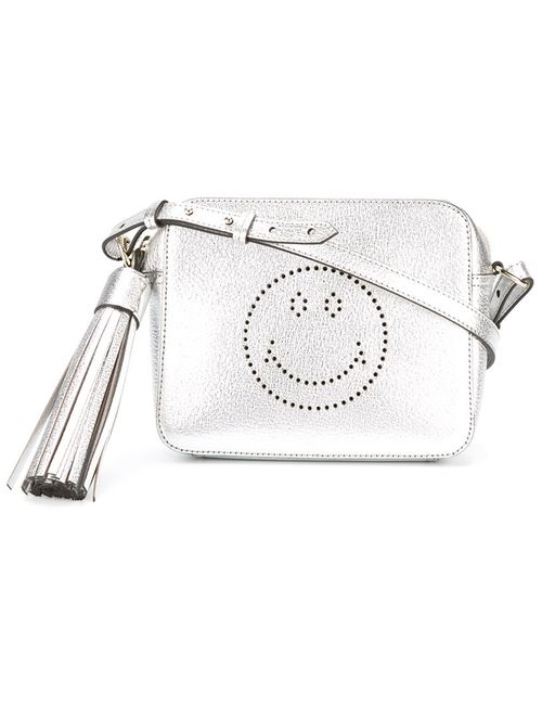 Anya Hindmarch   Женское Серебристый Smiley Crossbody Bag