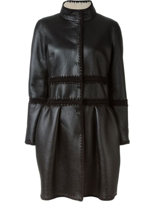 Alberta Ferretti | Женская Чёрная Двухсторонняя Расклешенная Куртка