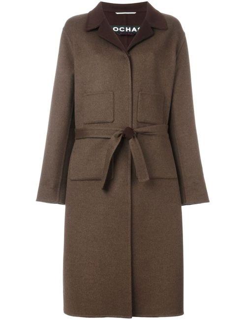 Rochas | Женское Коричневое Пальто С Поясом