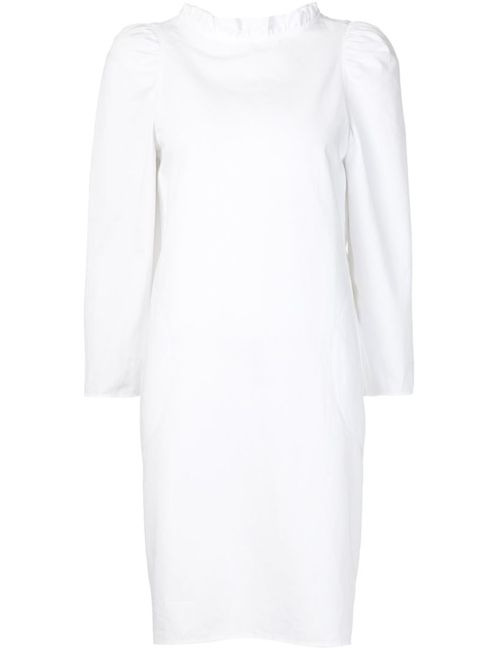 ATLANTIQUE ASCOLI | Женское Белое Платье С Плиссированным Воротником