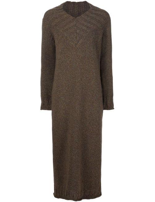 Joseph | Женское Коричневое Длинное Платье-Свитер