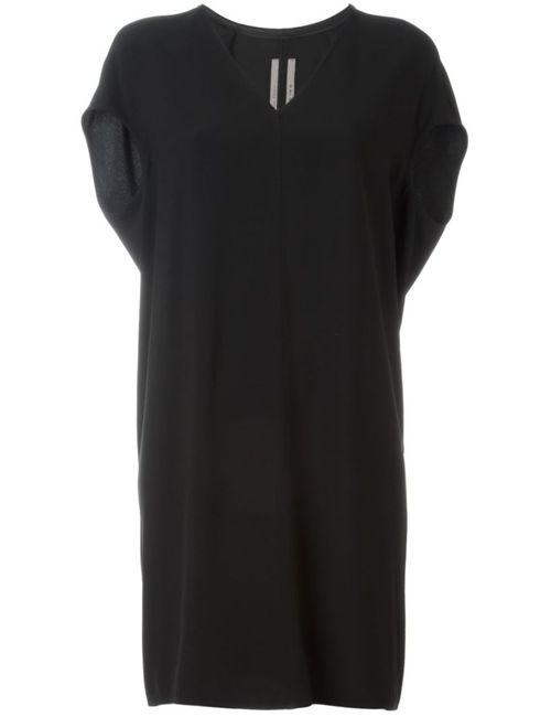 Rick Owens | Женское Чёрное Платье С V-Образным Вырезом Floating