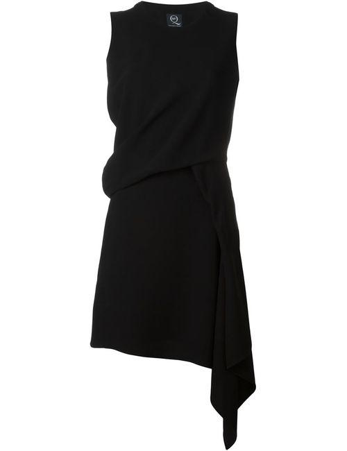 Mcq Alexander Mcqueen | Женское Чёрное Драпированное Платье