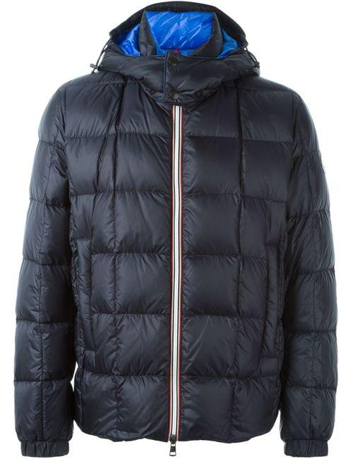 Moncler | Мужская Синяя Дутая Куртка Lefranc