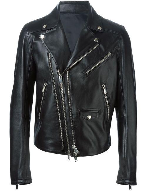 Les Hommes | Мужская Чёрная Байкерская Куртка