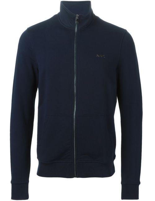 Michael Kors | Мужская Синяя Спортивная Куртка На Молнии