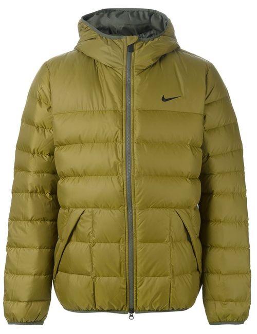 Nike | Мужской Зелёный Пуховик Alliance 550