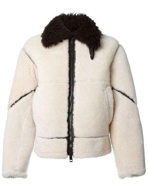 Burberry Brit | Мужская Коричневая Куртка-Бомбер Из Овчины