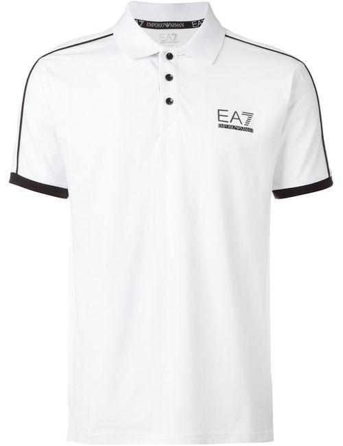 EA7 | Мужская Красная Футболка-Поло С Принтом Логотипа