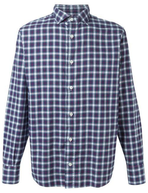 Eleventy | Мужское Синий Plaid Shirt