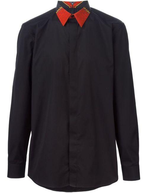 Givenchy | Мужская Чёрная Рубашка С Контрастным Воротником