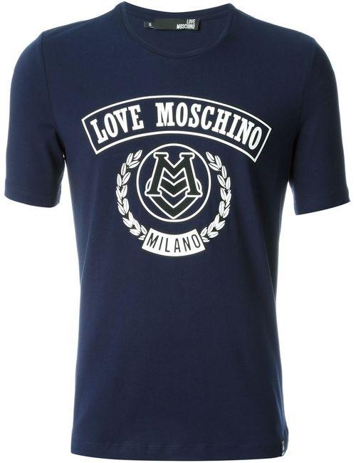 Love Moschino | Мужское Синий Logo Print T-Shirt