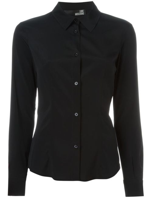 Love Moschino | Женское Чёрный Cutaway Collar Shirt