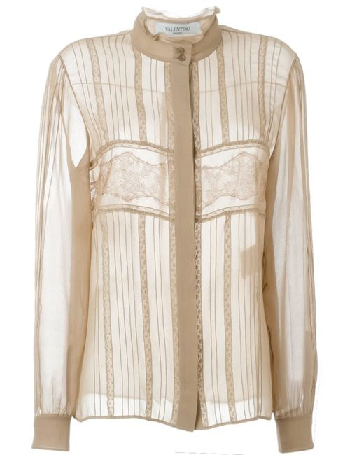 Valentino | Женское Nude & Neutrals Lace Panel Blouse