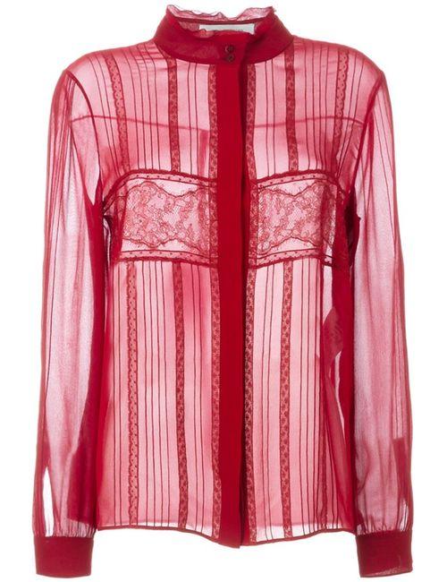 Valentino | Женское Красный Lace Panel Blouse