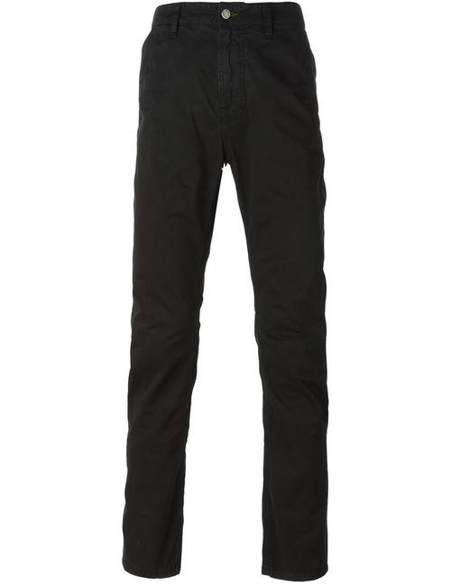 Nudie Jeans Co | Мужские Чёрные Классические Брюки-Чинос