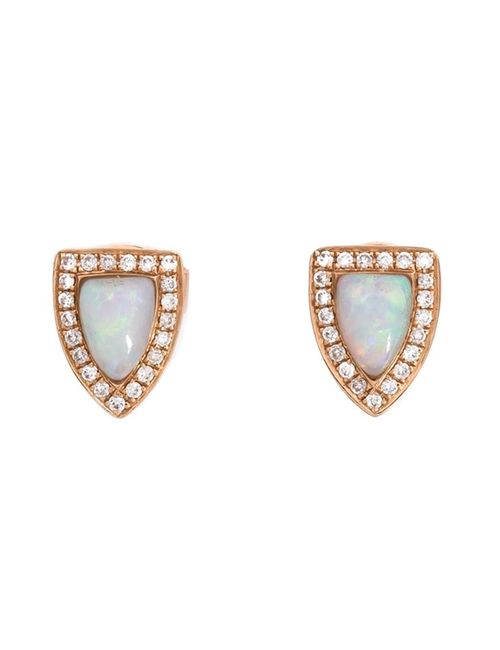 Anita Ko | Женское Серебристый 18kt Opal And Diamond Studs