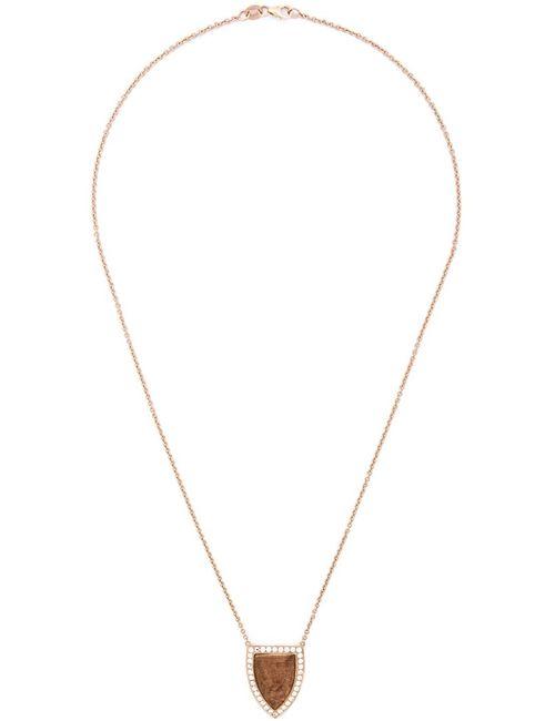 Anita Ko | Женское Розовый Large Wood Pendant Necklace