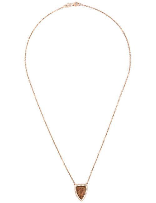 Anita Ko   Женское Розовый Small Wood Pendant Necklace