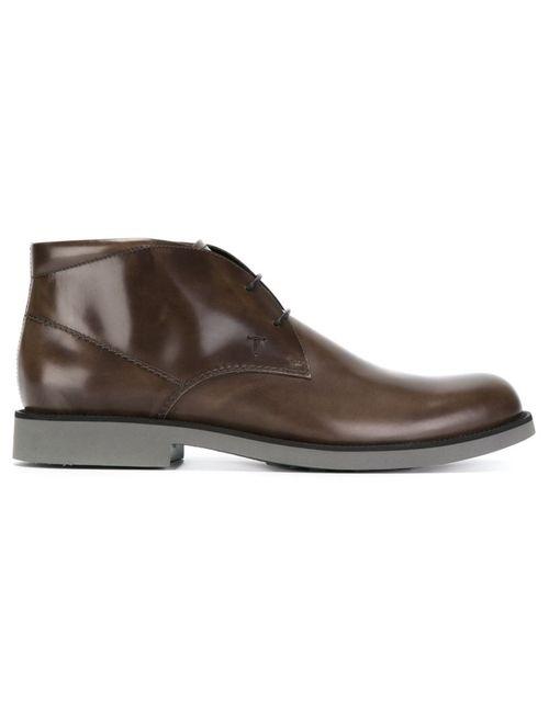 Tod'S | Мужские Коричневые Ботинки На Шнуровке