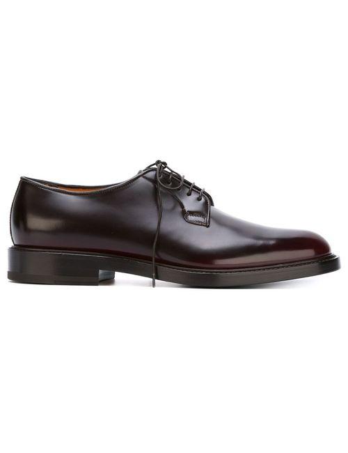 Santoni | Мужские Красные Классические Туфли-Дерби