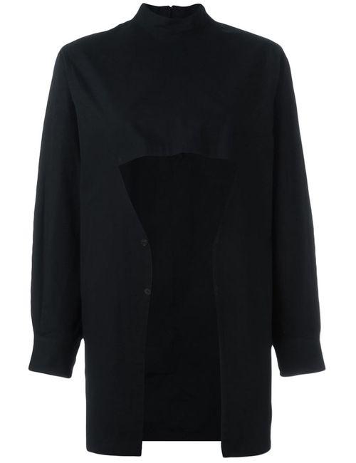 Comme Des Garcons | Женская Черный Рубашка С Открытой Панелью Спереди