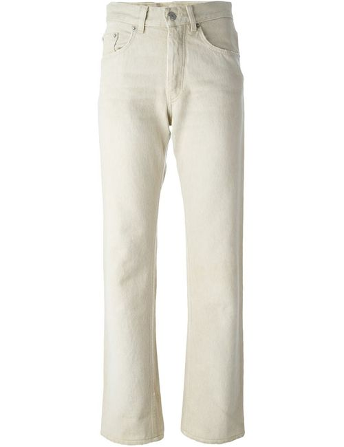 HELMUT LANG VINTAGE | Женское Nude & Neutrals Distressed Straight Leg Jeans