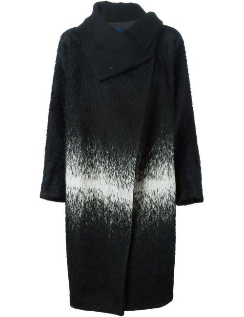 DEMOO PARKCHOONMOO | Женское Чёрное Пальто С Контрастным Рисунком