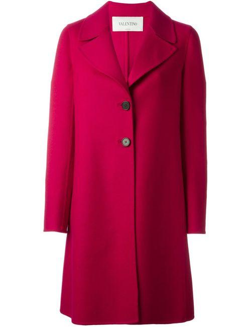 Valentino   Женское Розовое Однобортное Пальто