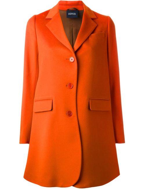 Aspesi | Женское Жёлтое Классическое Однобортное Пальто