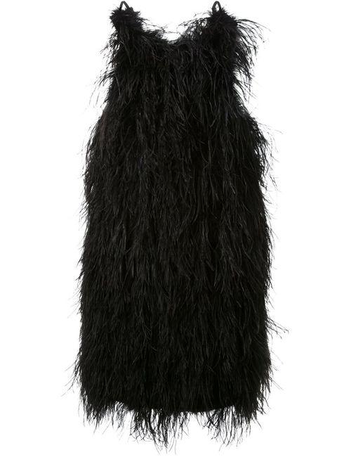 SCANLAN THEODORE | Женское Чёрное Платье С Отделкой Перьями