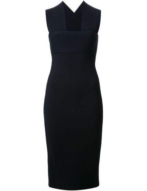 SCANLAN THEODORE | Женское Чёрное Вязаное Приталенное Платье