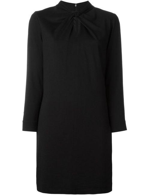 Aspesi | Женское Чёрное Платье С Перекрученной Деталью