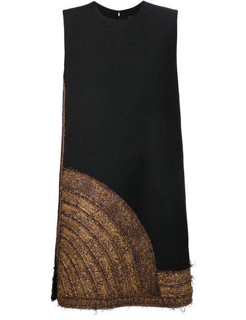 Lanvin | Женское Чёрный Applique Hem Dress