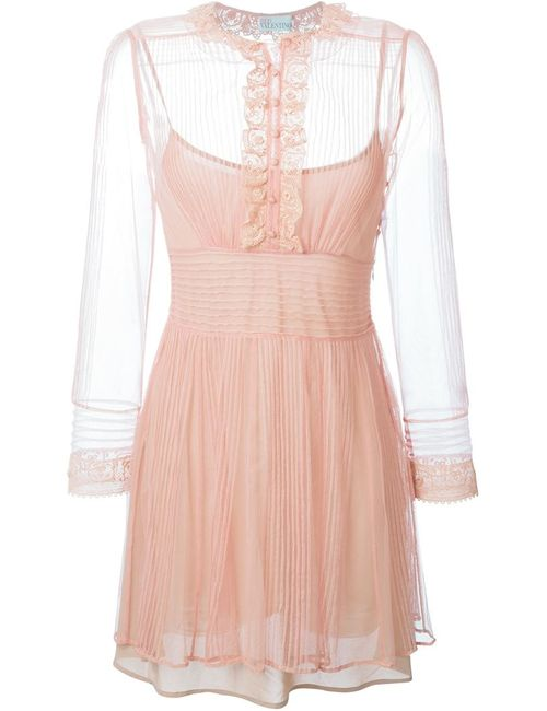 Red Valentino | Женское Розовое Кружевное Платье
