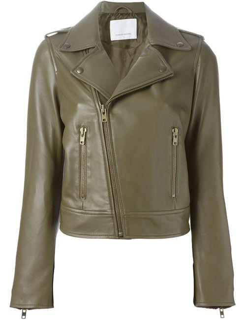 SCANLAN THEODORE | Женская Зелёная Байкерская Куртка