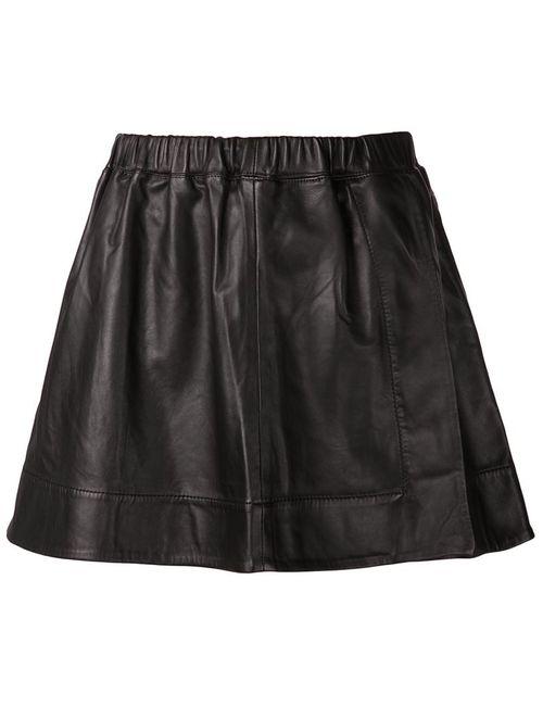 Iro | Женская Черный Кожаная Мини-Юбка