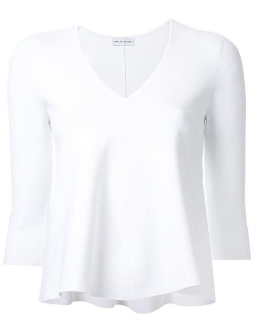 SCANLAN THEODORE | Женская Белая Блузка Свободного Кроя