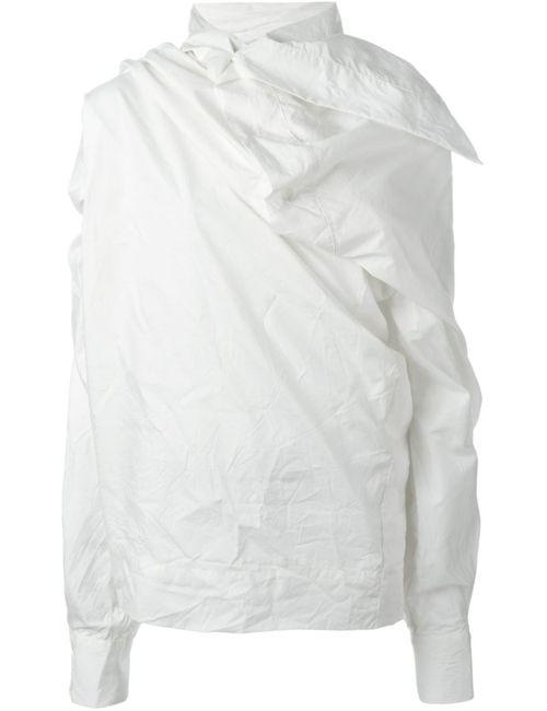 Vivienne Westwood Gold Label | Женская Белая Драпированная Блузка