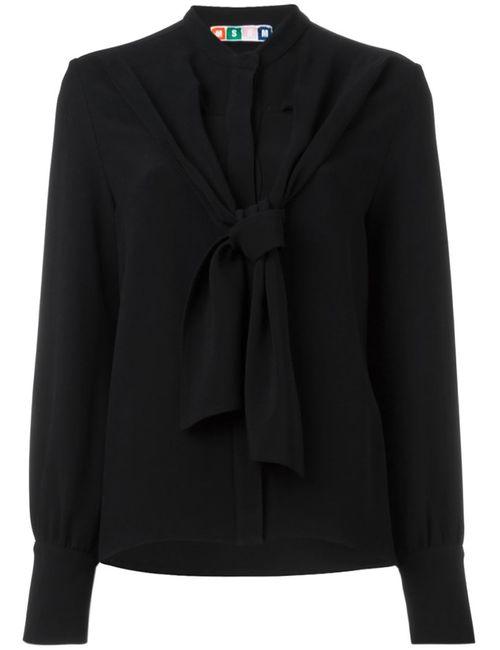 MSGM | Женская Чёрная Блузка С Завязками