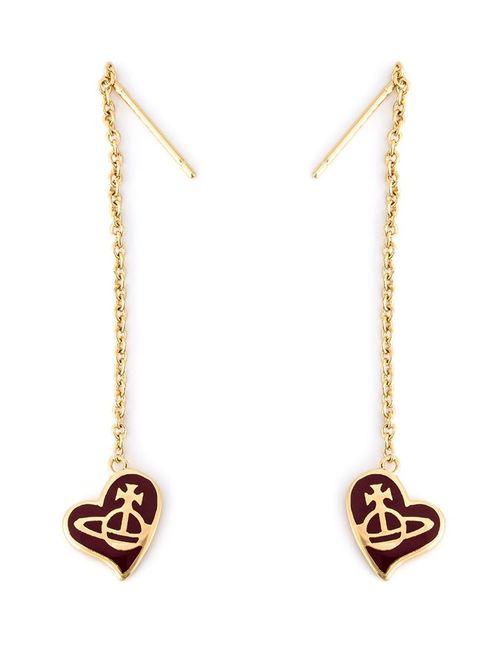 Vivienne Westwood | Женское Серебристый Orb Heart Drop Chain Earrings
