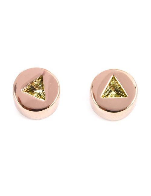 Eddie Borgo | Женское Серебристый Triangle Embellishment Round Earrings