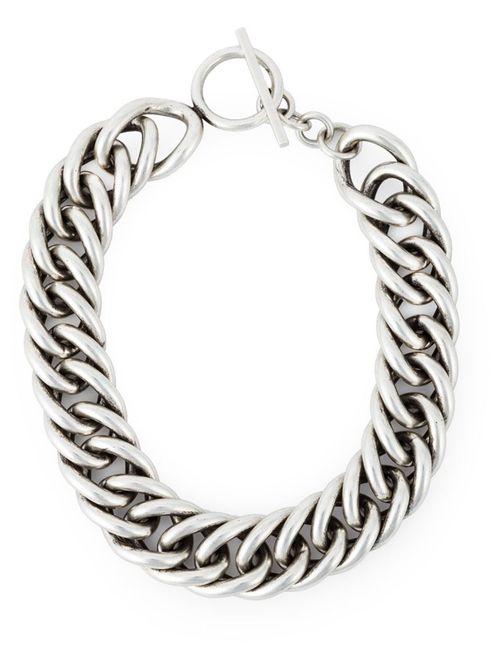 Saint Laurent | Женское Серебристый Chunky Chain Necklace