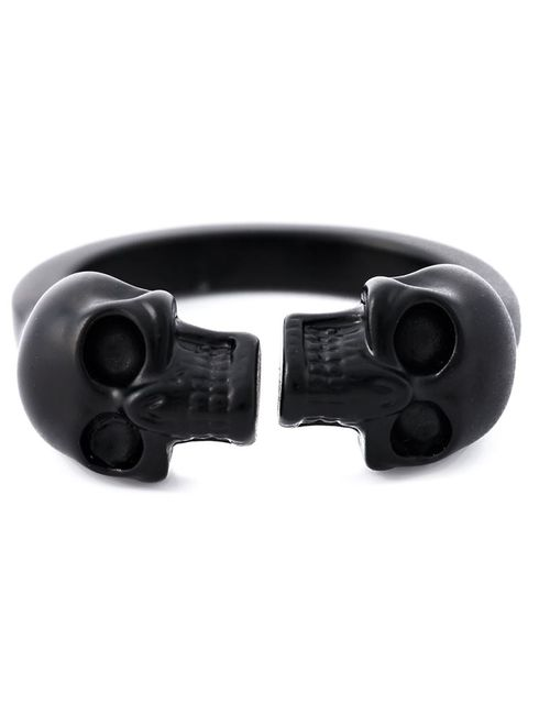 Alexander McQueen | Мужское Серебристый Twin Skull Ring