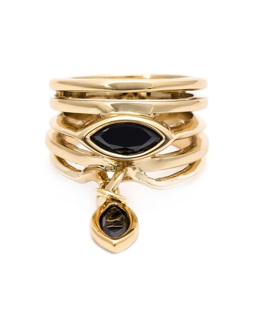 Eddie Borgo | Женское Серебристый Drop Onyx Layered Ring
