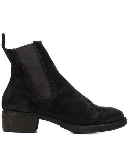 GUIDI | Женское Чёрный Chunky Heel Ankle Boots